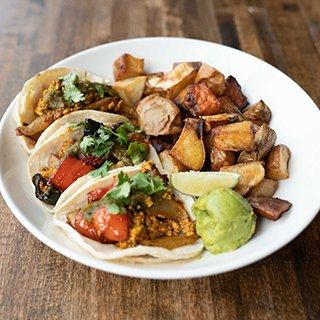 Vegan Breakfast Tacos at Bruncheonette Spokane
