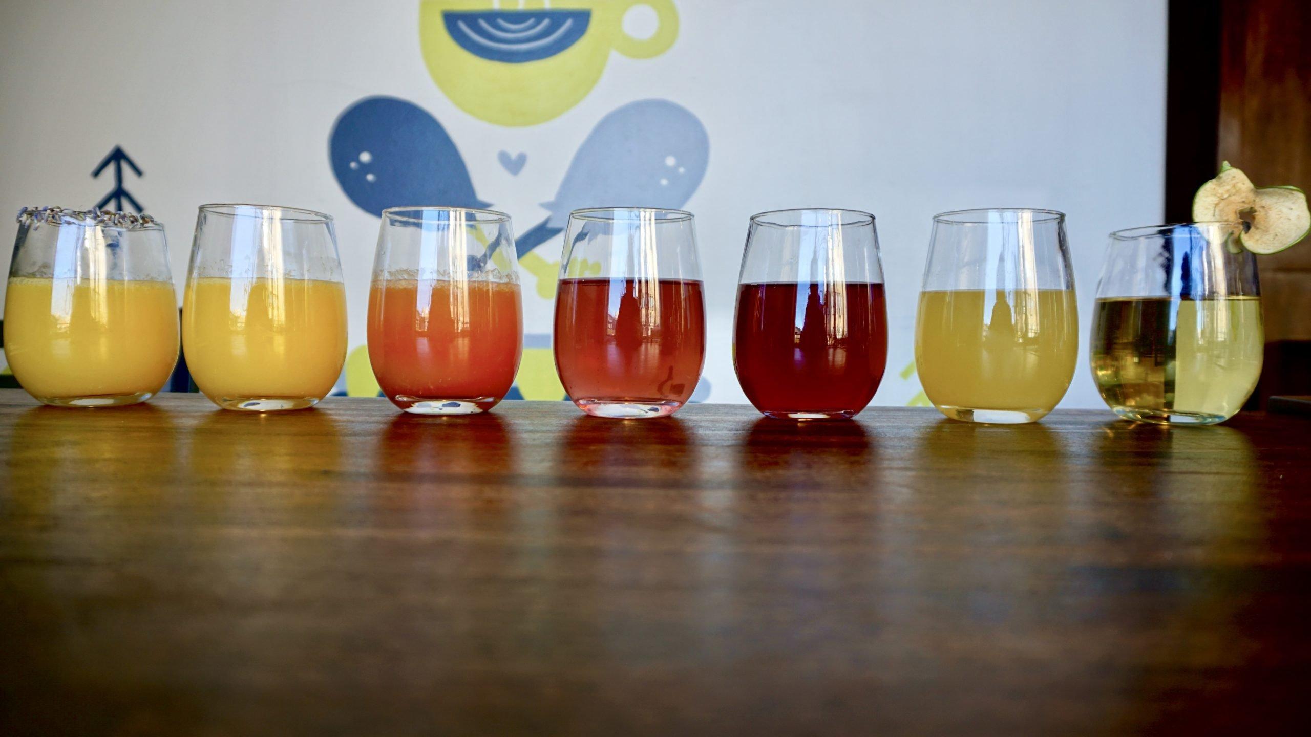 Mimosa Line Up from Bruncheonette in Spokane, WA